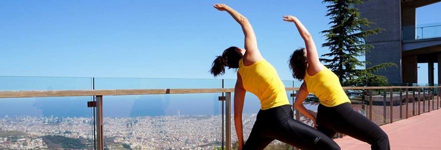 pratiquant de yoga
